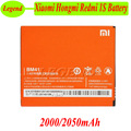 Original For Xiaomi Redmi 1S battery BM41 2000mAh Replacement Li-battery For Xiaomi Hongmi Red Rice Redmi 1S