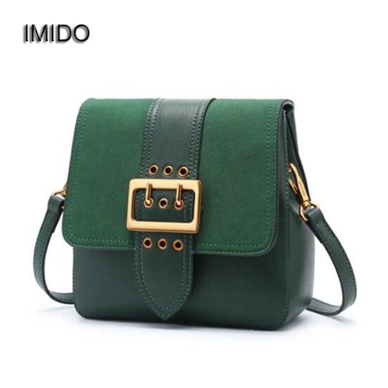 IMIDO haute qualité luxe femmes Messenger sacs doux en cuir mat sac femme sac à bandoulière vert bolsa feminina MG085