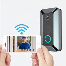 1080 HD Video Doorbell Wireless V6 Doorbell Automatic induction Video IP64 Waterproof HD WiFi Security Camera Real-Time Video