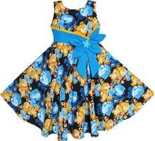 Sunny Fashion Robe Fille Bohême Or Bleu Arc Attacher De tous les jours Été