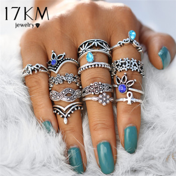 Retro Flower Womens Infinite Knuckle Rings 1