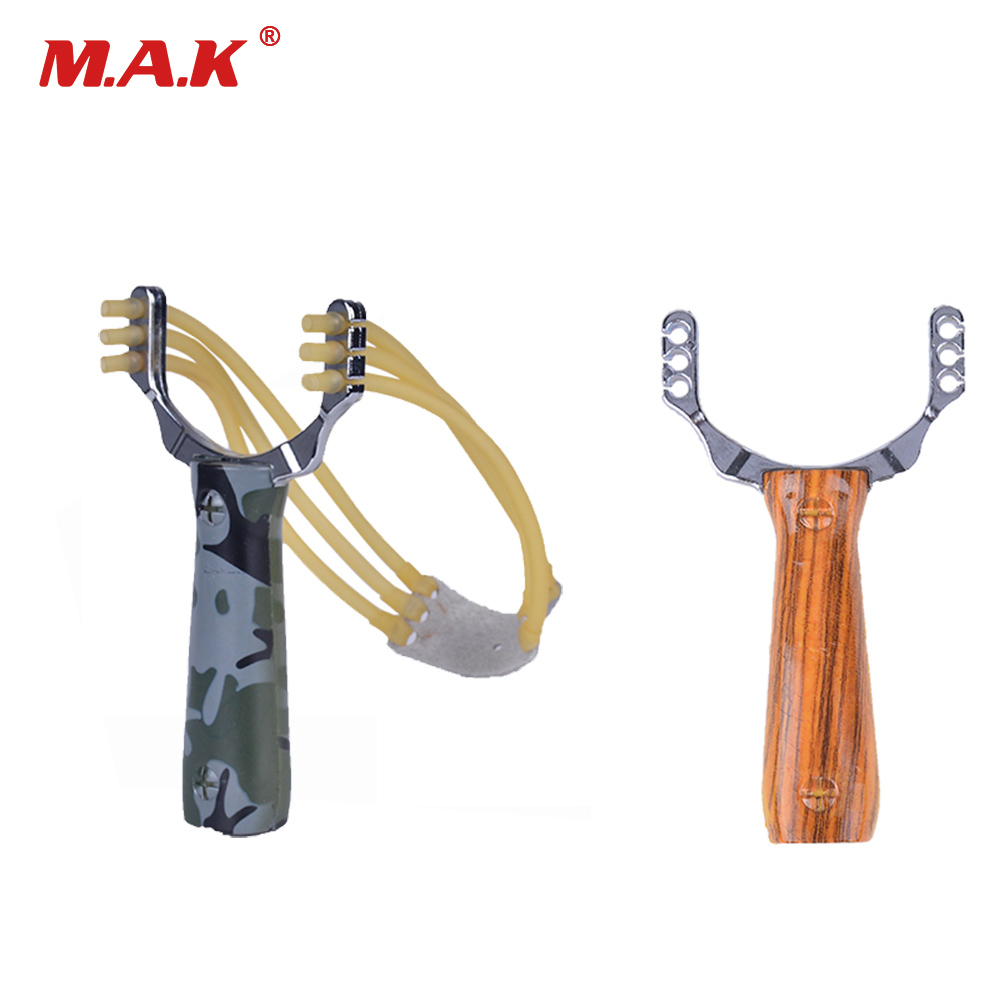 Zinc Alloy And Plastic Slingshot Catapult Camouflage Bow Un-hurtable Outdoor Game Playing Tool