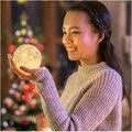 Envío Libre impresión 3D luna de carga de la lámpara luna luz de la noche de luna Luna regalo de Navidad regalo de encargo privado Lucky deseos