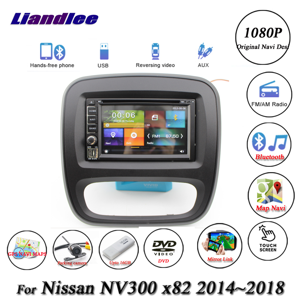 Liandlee Car System For Nissan NV300 X82 2014 2018 Radio Video DVD Player GPS Navi MAP