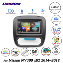 Liandlee Car System For Nissan NV300 X82 2014~2018 Radio Video DVD Player GPS Navi MAP Navigation 1080P BT HD Screen Multimedia(China)