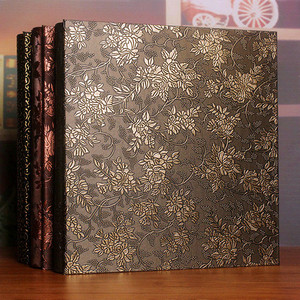 Image 2 - 600 כיסי 6 אינץ Interleaf סוג גדול גבוהה קיבולת אלבום תמונות עור מפוצל אלבומים תמונות בעבודת יד DIY הנצחה משפחה פרח