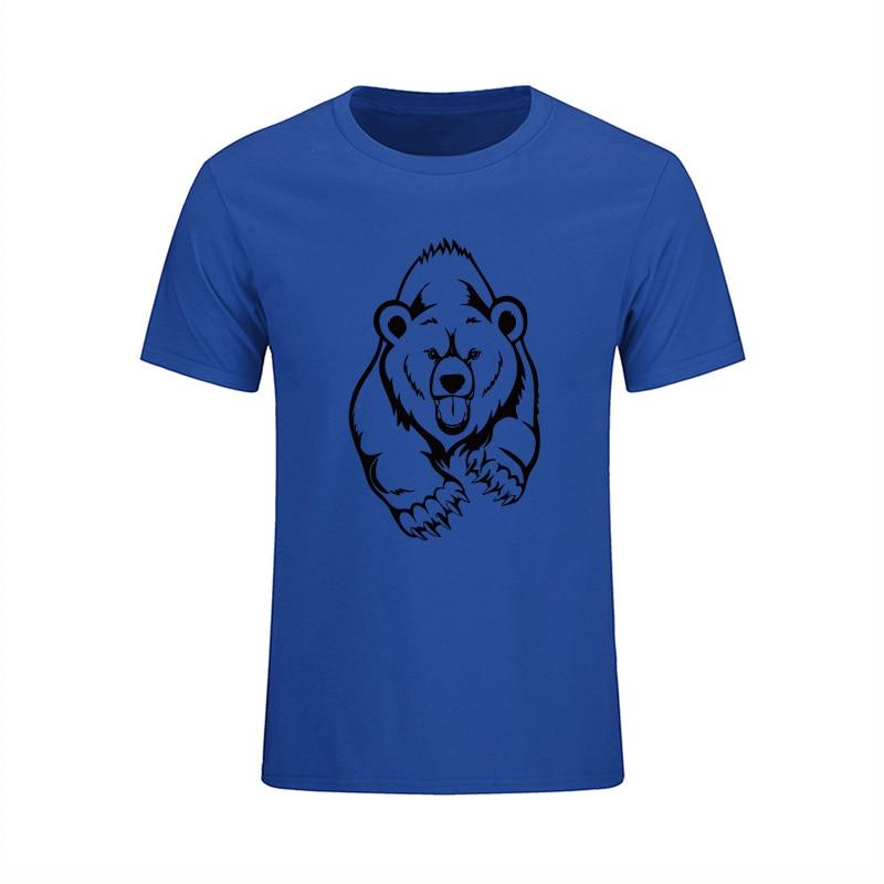 NUEVA Llegada Verano Grizzly Camiseta Hombre Oso Marrón Estampado - Ropa de hombre - foto 6