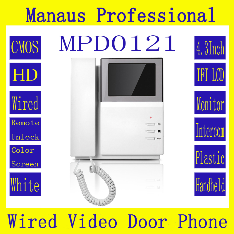 High Quality  4.3 Inch Digital Color TFT LCD Wired Indoor Monitor Video Door Telephone Remote Network Smart Home Building D121b