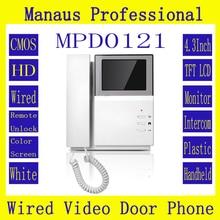 De alta Calidad de 4.3 pulgadas en Color Tft LCD Monitor de Interior con Cable Video de La Puerta Teléfono de Red Remoto Domótica Edificio D121b