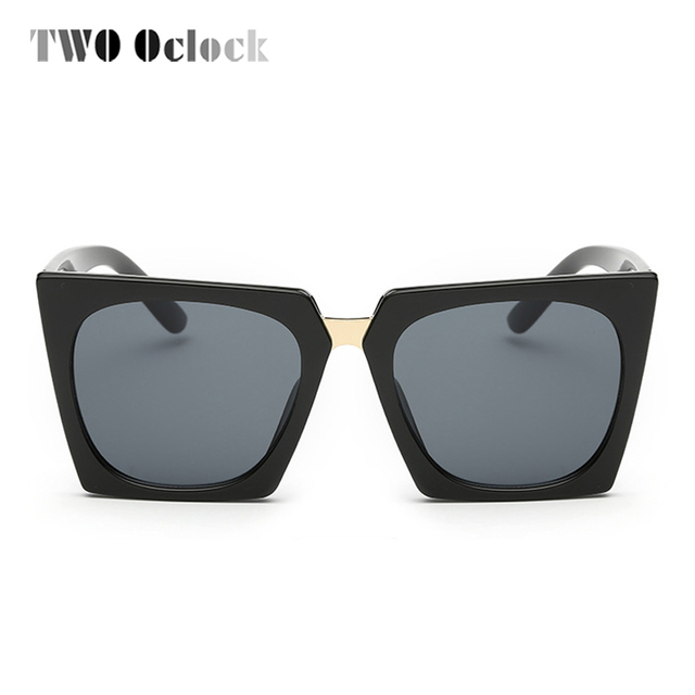 75756c0e3 TWO Oclock Vintage Cat Eye Sunglasses Women Brand Stylish Sun Glasses UV400  Retro Ladies Eyewear Black Shades Female Oculos X846