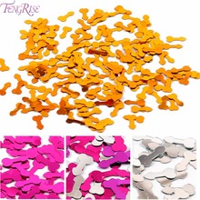 FENGRISE 50pcs Willy Penis Gold Confetti Table Scatters Bachelorette Party Decoration Silver Glitter Hen Bling Confettis
