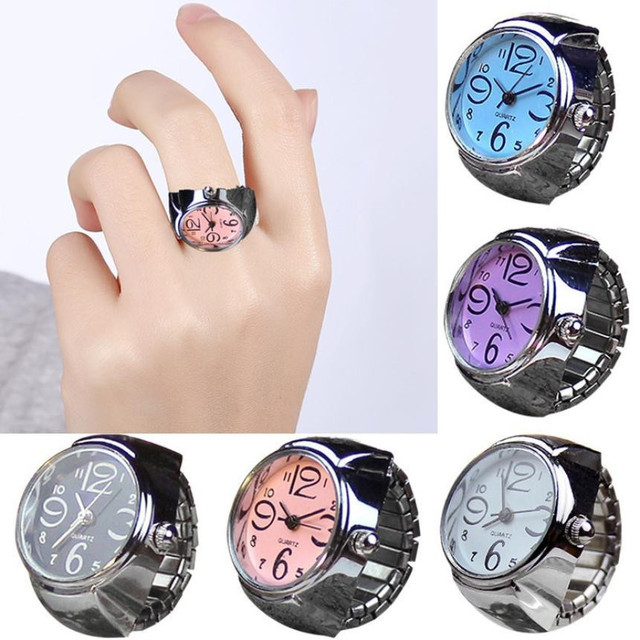 Quartz wristwatches women watches Dial Quartz Analog Quartz Finger Ring Watch Cr