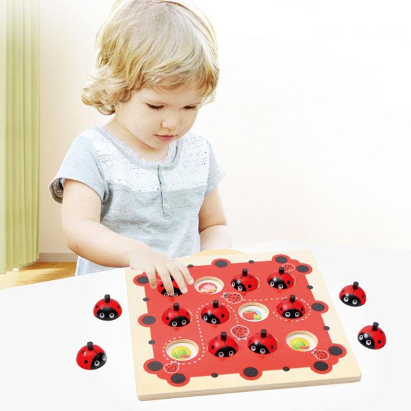 Wooden Memory Game Baby Brain Training Montessori Memory Interactive Desk Toys Children Learning Educational Toys For Kids children wooden mathematics puzzle toy kid educational number math calculate game toys early learning counting material for kids
