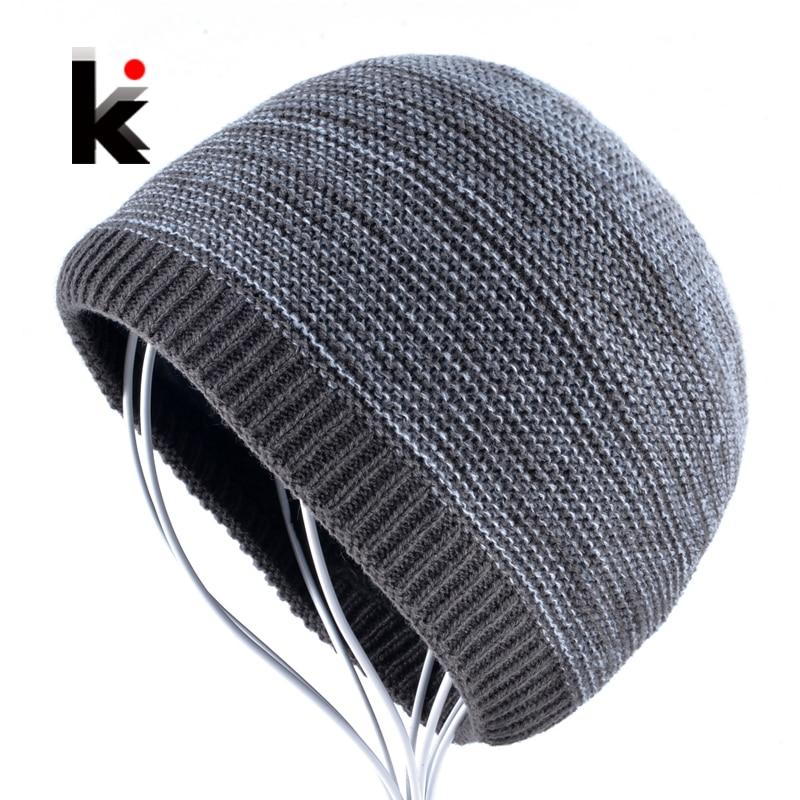 Men's Winter Skullies Knitted Wool Beanies Hat For Men Hip Hop Beanie Caps for Boy Warm Knit Bonnet Bone Gorros Homens Inverno