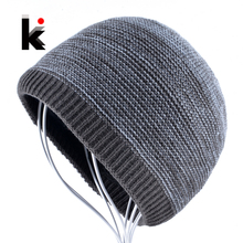 Men's Winter Skullies Knitted Wool Beanies Hat For Men Hip Hop Beanie Caps for Boy Warm Knit Bonnet Bone Gorros Homens Inverno цена в Москве и Питере