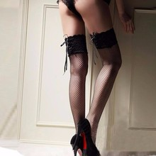 Sexy Fishnet Stockings Female Thigh High Sheer