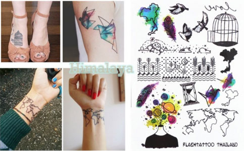 394 new trend temporary body tattoo unisex world map birdcage paper 394 new trend temporary body tattoo unisex world map birdcage paper crane hipster must buy gumiabroncs Image collections