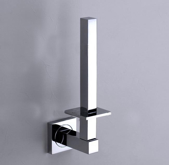Solid Brass Chrome Finish Toilet Paper Holder Roll Stand Bathroom Accessories Square Style karcher в москве дешево