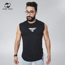 New fashion sleeveless cotton shirt men's vest men's fitness shirt fitness shirt fitness vest gym men's fitness vest цена