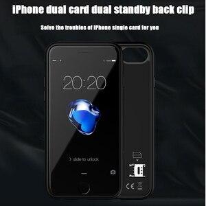 Image 5 - Podwójna karta Sim Adapter Bluetooth przypadku dla iPhone 6 PLUS 7 PLUS 8 PLUS 6S PLUS Slim podwójny tryb gotowości adapter aktywny uchwyt na karty Sim