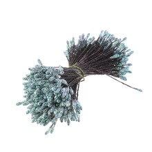 CCINEE 288 шт./лот 3 мм Яркий порошок цветок Stamen Pistil твист выбраны Свадебные украшения