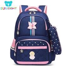 Hot 1-3 Grade Girls School Bag School bags For Girls Children Backpacks Girl School Backpack Kids Bag Cross Bow Mochila Infantil цена