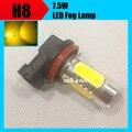 2X xenon blanco 7.5 W 12 V h8 h9 h11 bombilla led amarillo led bombilla de la lámpara de niebla del coche parking styling accesorios kits led de conducción iluminación
