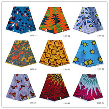 african fabric wholesale 100% cotton wax prints 2019 latest tissu ankara print 6 yards 1305-11