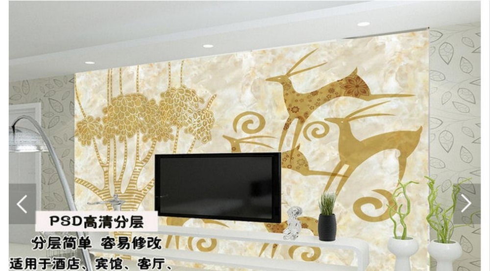 Customized 3d photo wallpaper 3d tv wallpaper European contracted large TV setting wall paper living room wallpaper