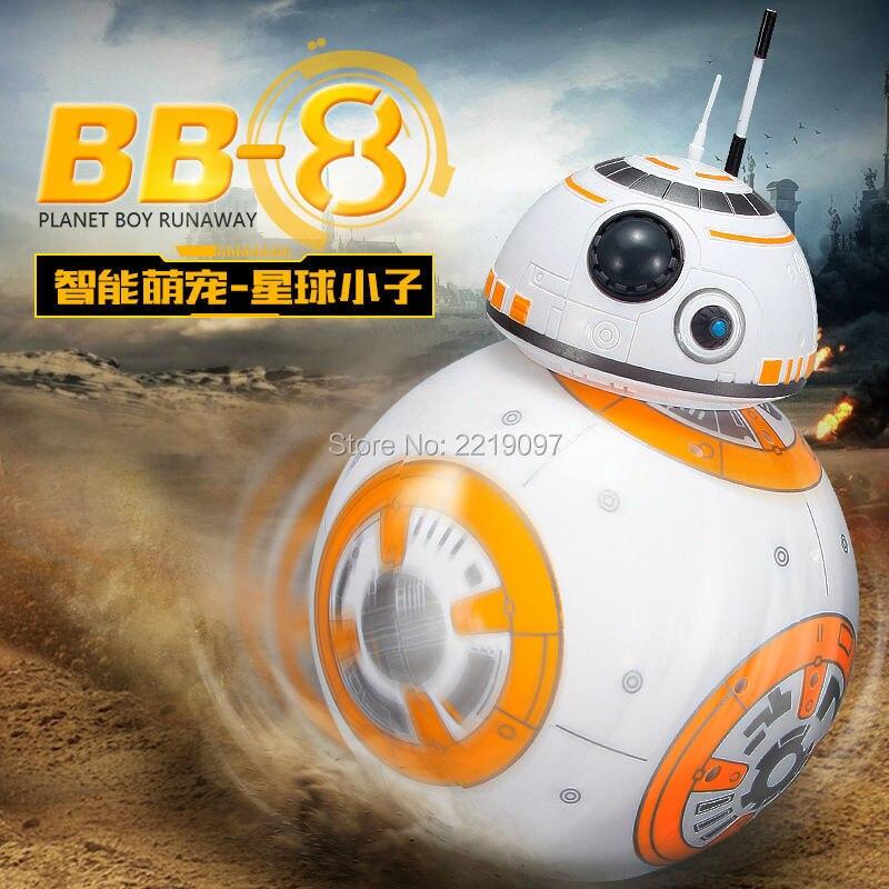 Envío rápido BB-8 bola Star Wars RC figura de acción BB 8 Droid Robot 2,4g Control remoto Robot inteligente BB8 modelo de juguete de regalo