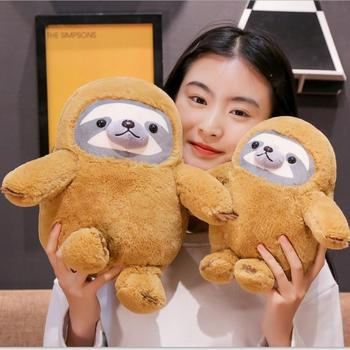 1pc Cute Simulation Sloth Baby Doll Lifelike Sloth Plush Toys Stuffed Animal Backpack Kids Toys Girlfriend Best Gifts Brinquedos цена 2017