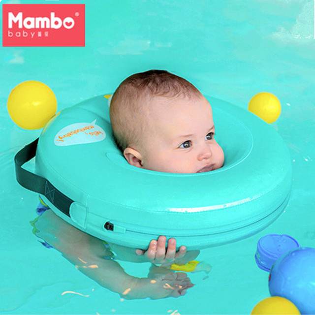 Mambobaby Neck Float Circle For Bathing No pump air Safety