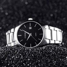 Curren Элитный бренд полный Сталь Для мужчин часы Дисплей день Дата Календарь Кварц-часы мужской Бизнес часы черный Человек наручные 8106