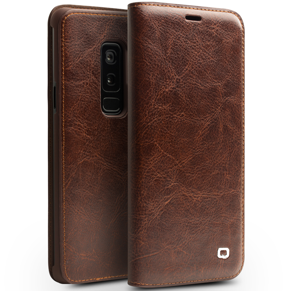 QIALINO Genuine Leather Flip Case for Samsung Galaxy S9 S9 Plus Bag Card Slot Ultra Thin Phone Cover for Samsung S9+