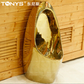 tonys Toilet Sensor gold urinal one piece inductor urinal for KTV Hotel Club bathroom self-cleaning anti-microbial gold urinal