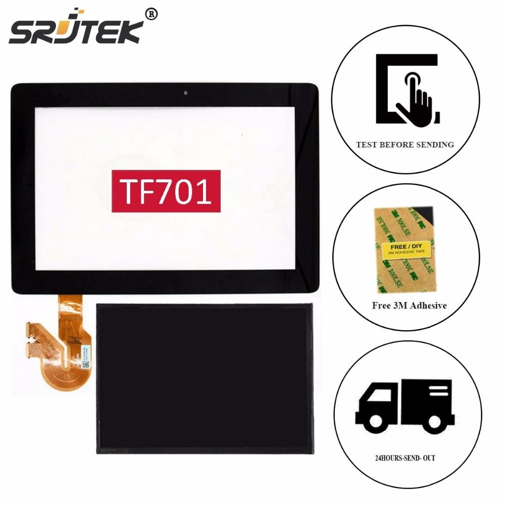 Srjtek 10.1 For ASUS Transformer Pad K00C TF701T TF701 5449N LCD Display Tablet Touch Screen Digitizer Glass Panel Sensor Parts new for asus eee pad transformer prime tf201 version 1 0 touch screen glass digitizer panel tools