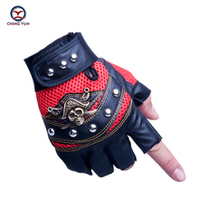CHING YUN 2019 New Tactical Gloves Male PU Semi-finger Protective Ride Non-slip Gloves Fighting Mitts Wear-resisting Man Gloves veterinary mitts 0 35mmpb end opened gloves veterinary fingerless x ray protective gloves leaky finger gloves lead rubber