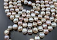 Charming Long Pearl Necklace 48inches Natural Freshwater Pearl Necklace Handmade Real Jewelry More Color For Choose