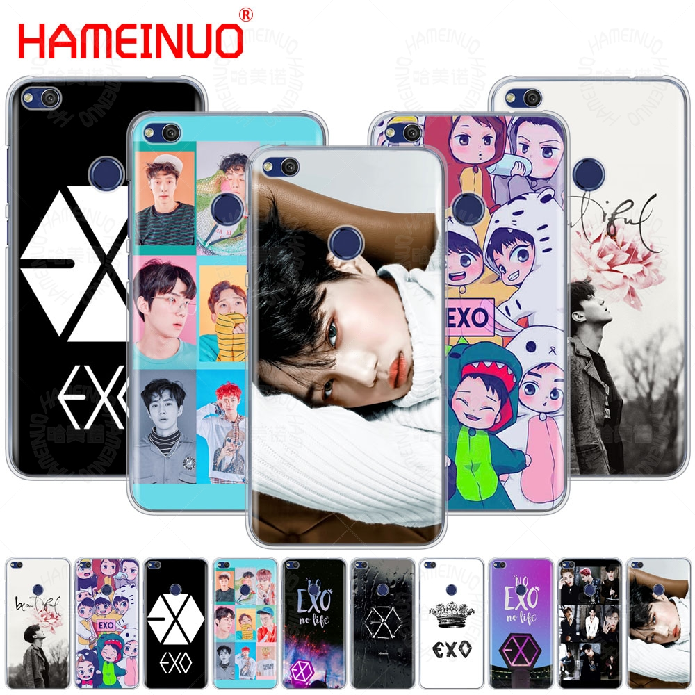 HAMEINUO <font><b>Kpop</b></font> exo Lucky one Cover phone <font><b>Case</b></font> <font><b>for</b></font> <font><b>huawei</b></font> Ascend P7 <font><b>P8</b></font> P9 P10 P20 <font><b>lite</b></font> plus pro G9 G8 G7 2017 image