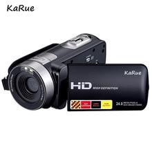 KaRue HDV-312P Portátil Câmera de Vídeo Digital HD 1080 P Câmera de Vídeo 24MP Camcorder 16x Zoom DV Câmera de Vídeo Digital