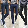 2016 New men's slim fit casual business suit pants mens formal straight thick long trousers pencil pants