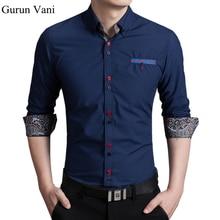 2018 Новый Для мужчин с длинным рукавом рубашки Цветной кнопки изменить модные Бизнес Slim Fit хлопковые рубашки деловая рубашка для Для мужчин