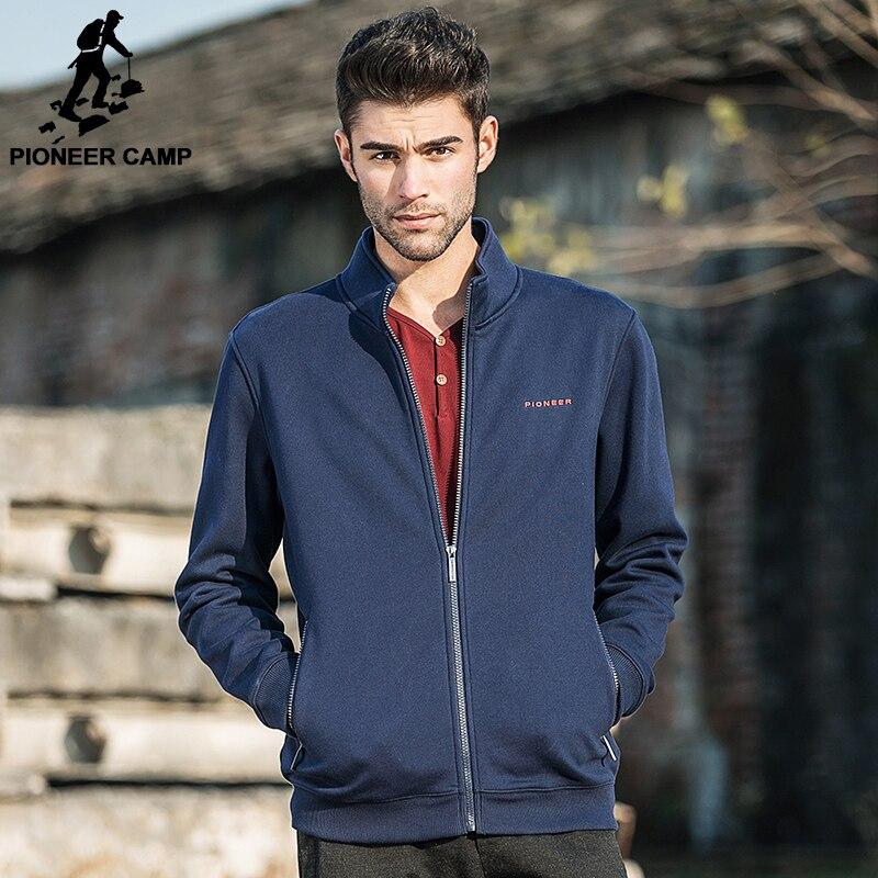 Camp pionnier marque vêtements polaire veste hommes Printemps hiver polaire bleu foncé manteau hommes top qualité mâle occasionnel veste chaude 520035