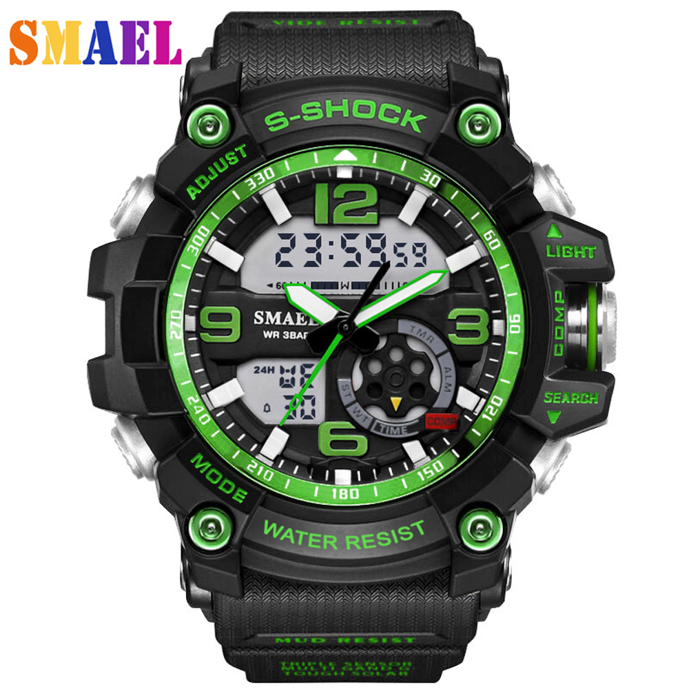 лучшая цена 2018 New Luxury Brand Sport Watch Men G Style Waterproof Sports Military Watches S-Shock Men's Fashion Quartz LED digital watch