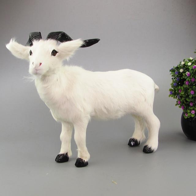 white sheep toy plastic& furs simulation goat large 40x26cm model home decoration Xmas gift w5808