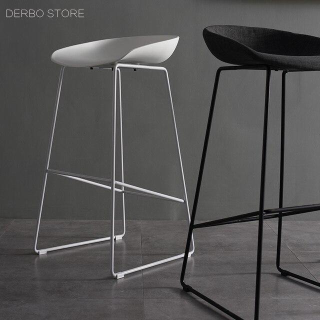 US $350.0 |Design moderno Altezza Seduta 65 cm 75 cm Cucina Camera Bancone  Sgabello, fashion design in plastica e metallo acciaio bar sgabello da bar  ...