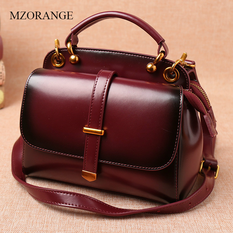 MZORANGE Brand Women Genuine Leather Flap Fashion Crossbody Bags Handbags Shoulder Bags Ladies Small New Lady Postman Bag new women genuine leather handbags shoulder messenger bag fashion flap bags women first layer of leather crossbody bags