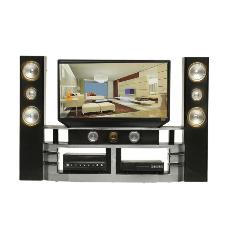 Mini Hi-Fi Television TV Kits Doll House Miniature Furniture Create The Warm Atmosphere