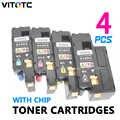 4 pièces 106R01631 106R01632 106R01633 106R01634 Couleur Cartouches De Toner Pour Xerox Phaser 6010 6000 Workcentre 6015 V/B 6015 V/N 6015