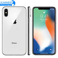 "Original Entsperrt Apple iPhone X Hexa Core Handy 256 GB/64 GB ROM 3GB RAM Dual Hinten kamera 12MP 5,8 ""4G LTE Smartphone"
